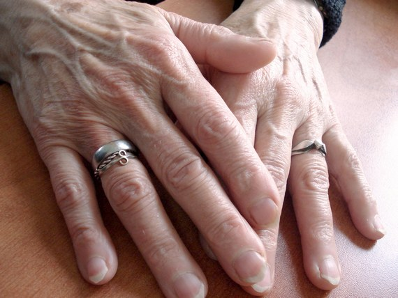 Visible veins on grandma's hands