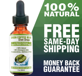 Green Coffee Bean Drops 2oz bottle