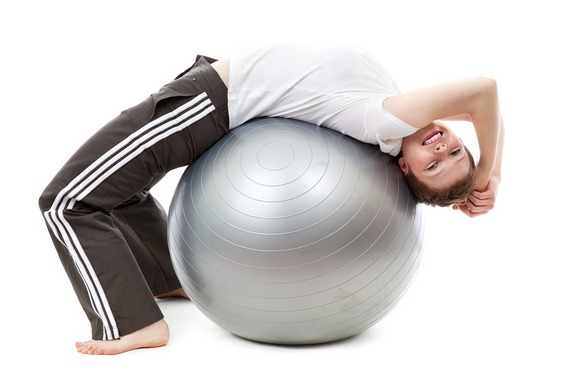 Exercising with medicine ball