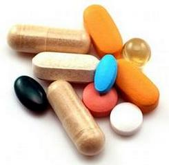 Vitamin supplement pills and tablets
