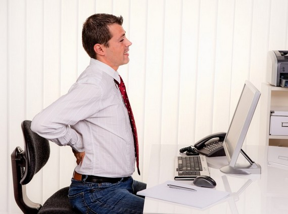 Long hours of sitting cause lower back pain