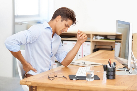 Take a pause from your work to alleviate back pain