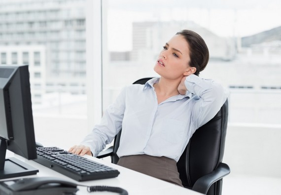Sitting at computer for too long can cause neck pain, too